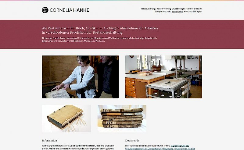 Screenshot restauratorin-hanke.de
